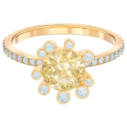 Pierścionek SWAROVSKI - Olive, Multi-colored, Gold 5460983 55