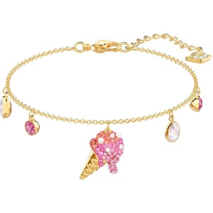 Bransoletka SWAROVSKI - No Regrets Ice Cream, Multi-colored, Gold 5457498