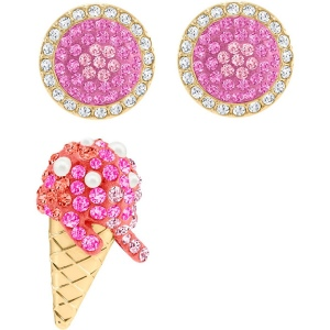 Zestaw Kolczyków SWAROVSKI - No Regrets Ice Cream, Multi-colored, Gold 5457497