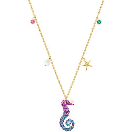 Naszyjnik SWAROVSKI - Ocean Seahorse, Multi-colored, Gold 5452562