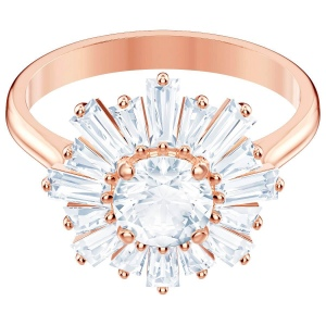Pierścionek SWAROVSKI - Sunshine, White, Rose Gold 5459599 55