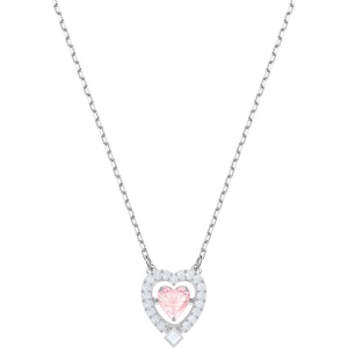 Naszyjnik SWAROVSKI - Sparkling Dance Heart, Pink, White 5465284