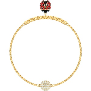 SWAROVSKI - Remix Collection, Ladybug Strand, Multi-colored, Gold 5466832 M