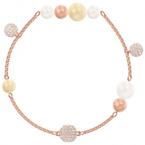 SWAROVSKI - Remix Collection, Pearl Strand, Multi-colored, Rose Gold 5479007 L