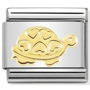 Nomination - Link 18K Gold 'Turtle with Hearts' 030162/51