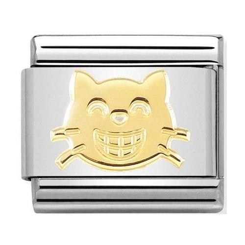 Nomination - Link 18K Smiling Cat, Gold 030162/52
