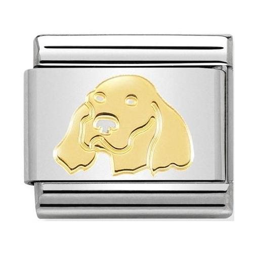Nomination - Link 18K Gold 'Setter Irlandese' 030162/55