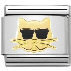 Nomination - Link 18K Gold 'Cat with Sunglasses' 030272/44