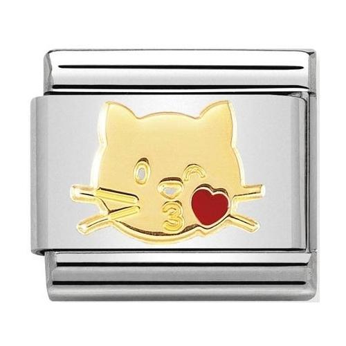 Nomination - Link 18K Gold 'Flying Kiss Cat' 030272/45