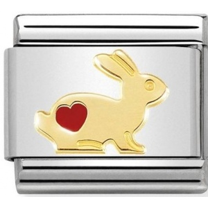 Nomination - Link 18K Gold 'Rabbit with Heart' 030272/46