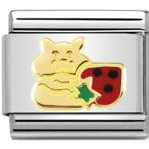 Nomination - Link 18K Gold 'Hamster with Strawberry' 030272/47