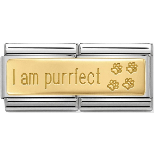 Nomination - Double Link 18K 'I Am Purrfect' 030710/18