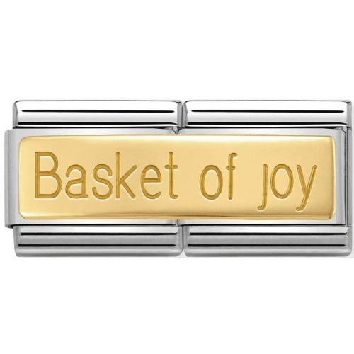 Nomination - Double Link 18K 'Basket Of Joy' 030710/19