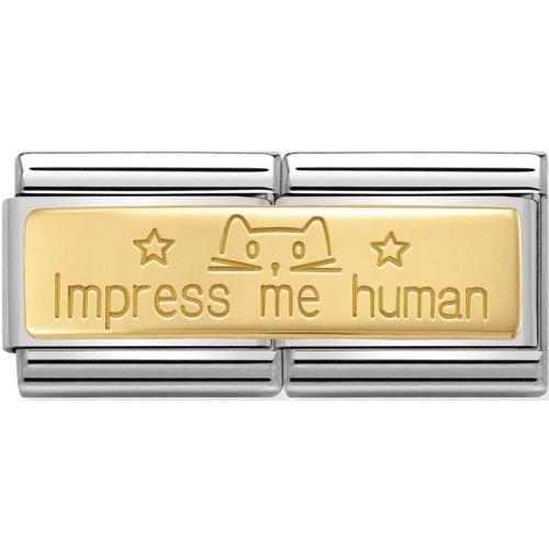 Nomination - Double Link 18K 'Impress Me Human' 030710/20