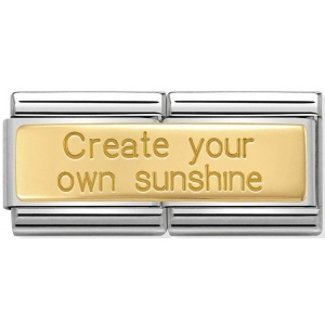 Nomination - Double Link 18K 'Create Your Own Sunshine' 030710/21