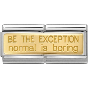 Nomination - Double Link 18K 'Be The Exception Normal Is Boring' 030710/23