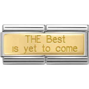 Nomination - Double Link 18K 'The Best Is Yet To Come' 030710/24