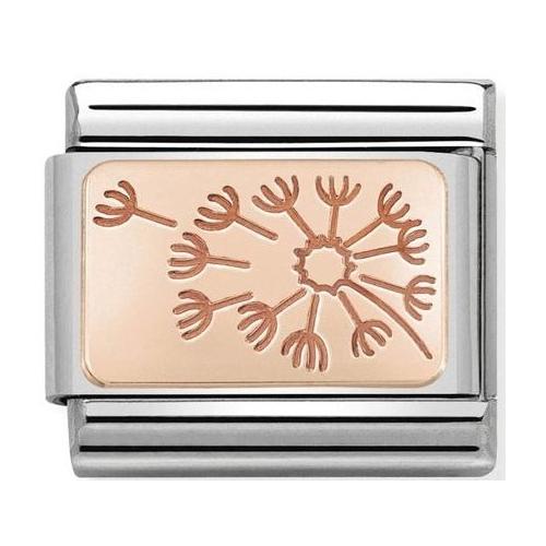 Nomination - Link 9K Rose Gold 'Dandelion Clock' 430101/48