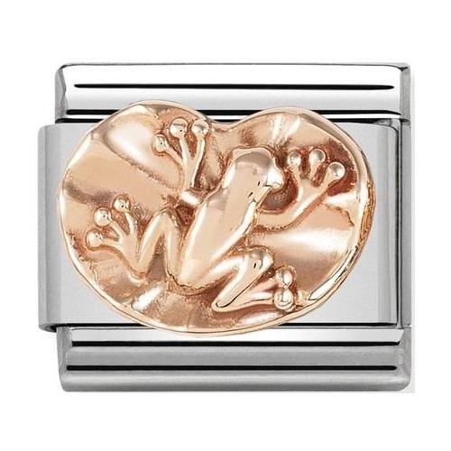 Nomination - Link 9K Rose Gold 'Frog On Lily Pad' 430106/09