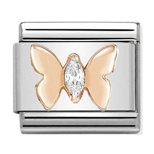 Nomination - Link 9K Rose Gold 'Butterfly' 430305/19