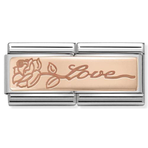 Nomination - Double Link 9K Rose Gold 'Love' 430710/14