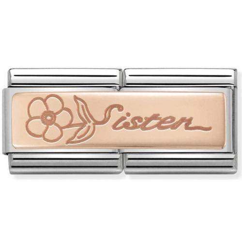 Nomination - Double Link 9K Rose Gold 'Sister' 430710/15