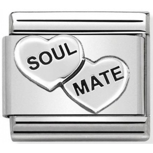 Nomination - Link 925 Silver 'Soul Mate Hearts' 330101/38
