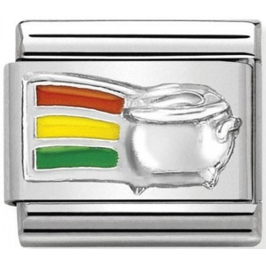 Nomination - Link 925 Silver 'Rainbow and Pot of Gold' 330204/15