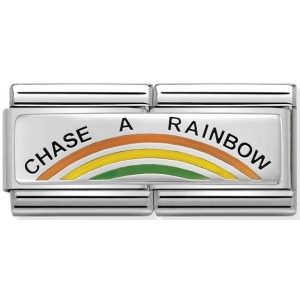 Nomination - Double Link 925 Silver 'Chase a Rainbow' 330721/02