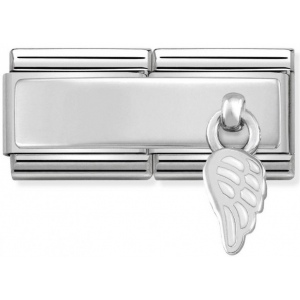 Nomination - Double Link 925 Silver 'White Wing' 330780/01