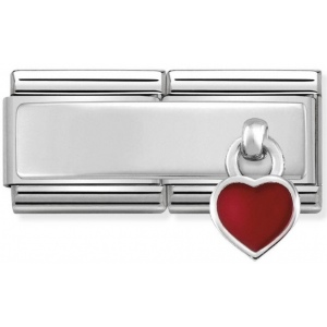 Nomination - Double Link 925 Silver 'Red Heart' 330780/03