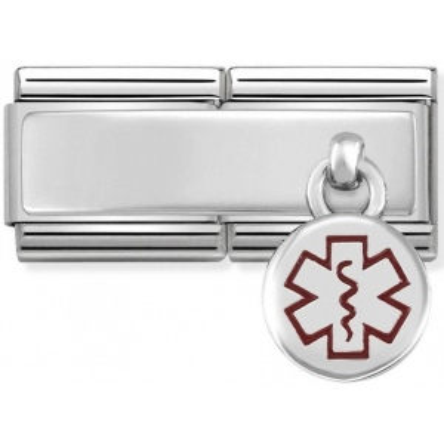 Nomination - Double Link 925 Silver 'Medical Alert Tag' 330780/02