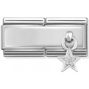 Nomination - Double Link 925 Silver 'Star with Glitter' 330780/04