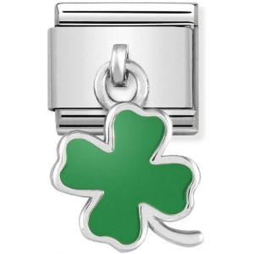 Nomination - Link 925 Silver 'Green Four-Leaf Clover' 331805/01
