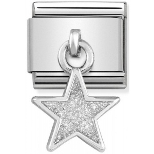 Nomination - Link 925 Silver 'Star with White Glitter' 331805/02