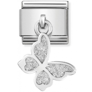 Nomination - Link 925 Silver 'Butterfly With White Glitter' 331805/03