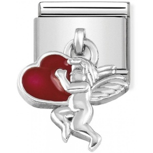 Nomination - Link 925 Silver 'Cupid with Red Heart' 331805/08