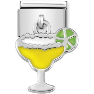 Nomination - Link 925 Silver 'Yellow and Green Cocktail' 331805/09