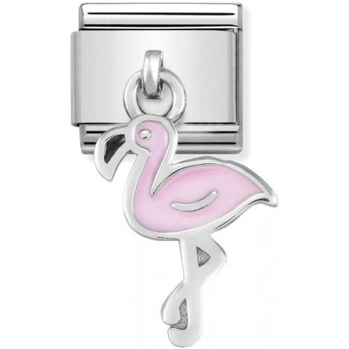 Nomination - Link 925 Silver 'Pink Flamingo' 331805/12