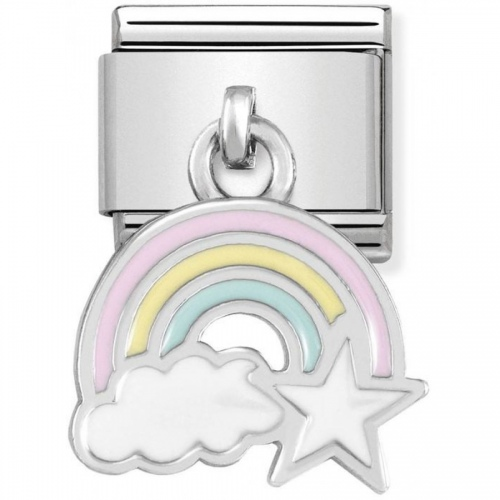 Nomination - Link 925 Silver 'Rainbow with Cloud and Star' 331805/17