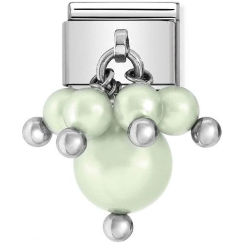 Nomination - Link 925 Silver 'Green Pastel Swarovski Pearls' 030609/07