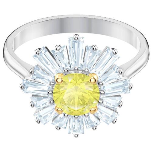 Pierścionek SWAROVSKI - Sunshine, Yellow, Silver 5472481 55