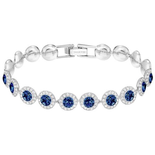 Bransoletka SWAROVSKI - Angelic, Blue, Silver 5480484
