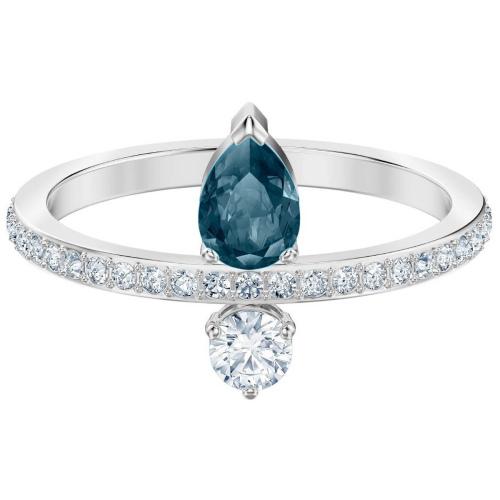 Pierścionek SWAROVSKI - Vintage, Blue, Silver 5457640 55