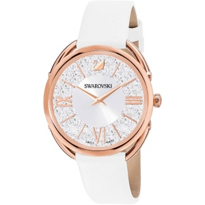 Zegarek Swarovski  - Crystalline Glam, Leather Strap, White, Rose Gold 5452459
