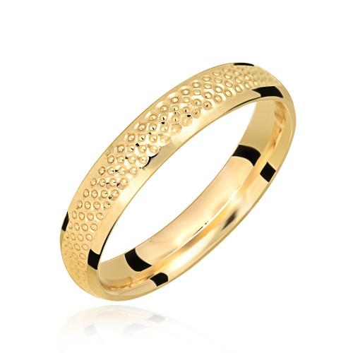 Złoty Pierścionek obrączka pr.585