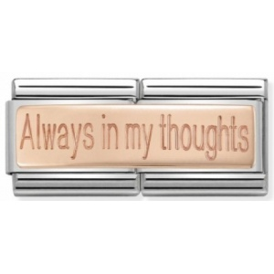 Nomination - Double Link 9K Rose Gold 'Always in my thoughts' 430710/13
