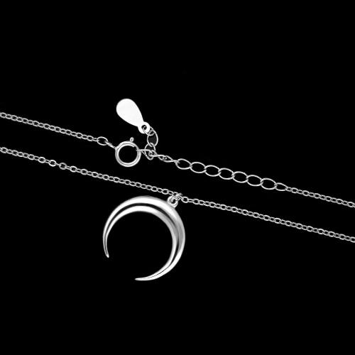 Srebrny Naszyjnik Celebrytka - Półksiężyc pr.925