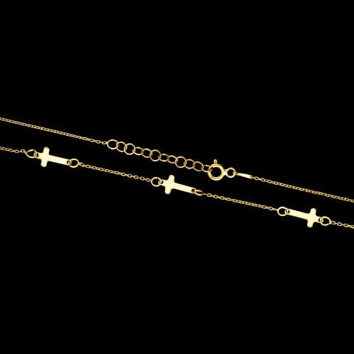 Pozłacany naszyjnik celebrytka - Krzyżyki pr.925