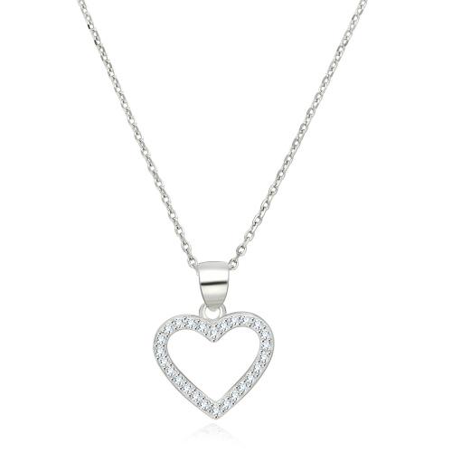 Srebrny naszyjnik z cyrkoniami - Serce pr.925